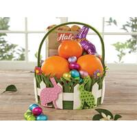 Polka Dot Bunnies Easter Basket